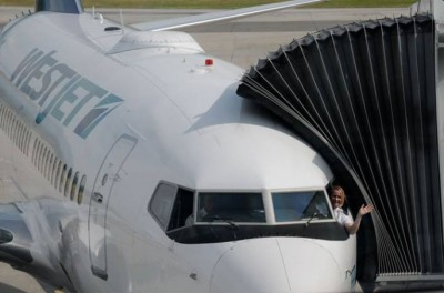 Carey Steacy is one of 10 female WestJet captains