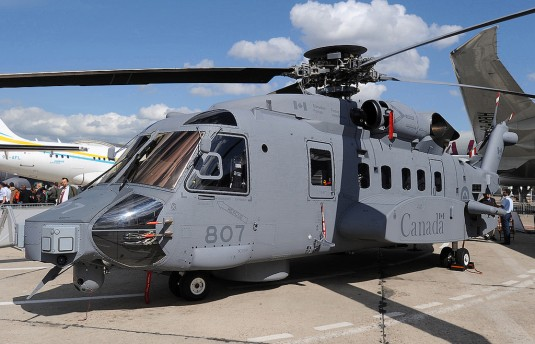 "Canada has four ""test"" CH-148 Cyclone helicopters."