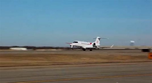 Bombardier flew its Learjet 85 for the first time Wednesday and prepared a video on the project to that point.