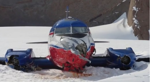 Lidia, a Basler BT-67, was extensively repaired on the Holtanna glacier in Antarctica and flown back to Calgary.