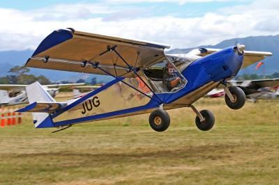 Deane Philip wins the spot landing competition.