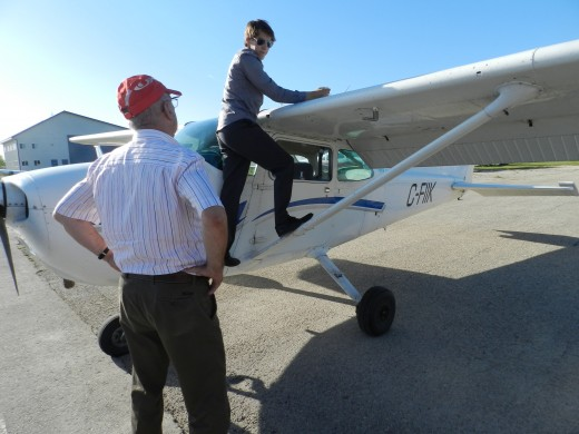 Contestants in the Webster competition are tested on all aspects of aviation.