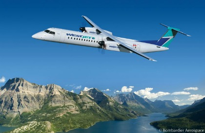 WestJet has exercised five options on Q400 aircraft for its Encore regional service.