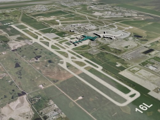 YYC's new runway is 14,000 feet long.