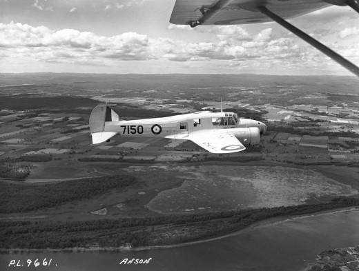 An RCAF Anson similar to the aircraft that crashed.