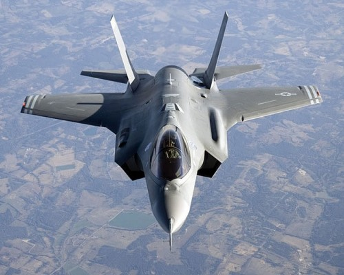 Companies now working on F-35 components are urging the federal government to continue with a sole source process.