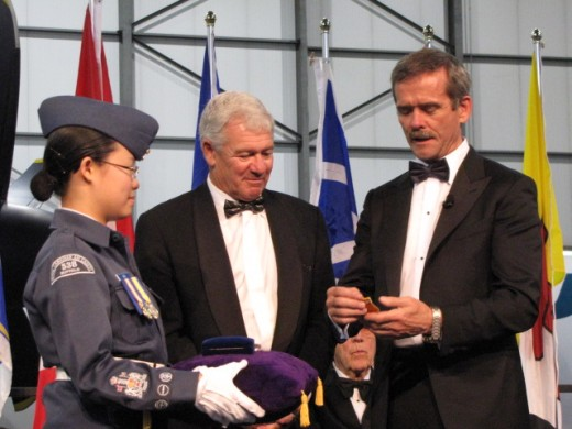 A long time aviation enthusiast and entrepreneur, WestJet's cofounder Clive Beddoe is formally welcomed into Canada's Aviation Hall of Fame by Col. Chris Hadfield (Ret.).