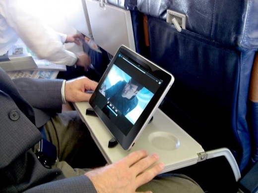 Non-transmitting use of personal electronic devices will be allowed throughout flight.