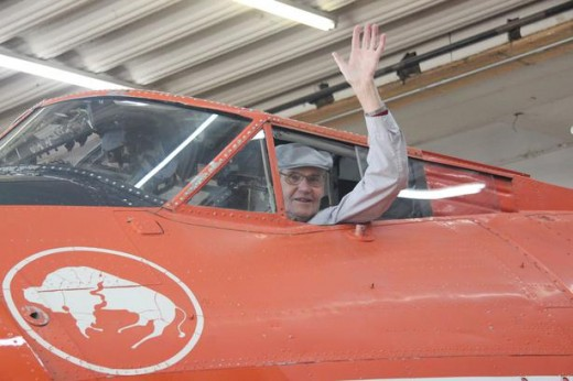 Hal Burns sat in a Canso cockpit for the first time in 69 years.