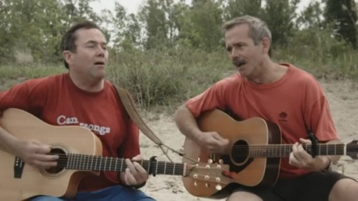 Dave and Chris Hadfield perform In Canada.