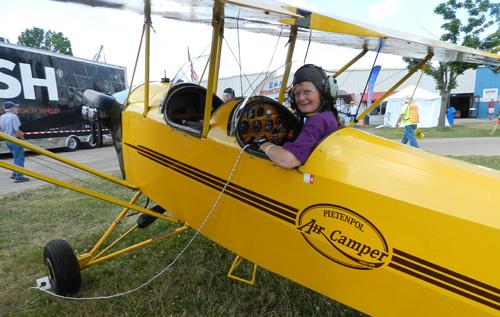 Jill Oakes flew her Pietenpol Air Camper from Winnipeg to Oshkosh.