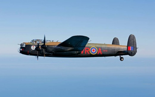 The CWH Lanc at cruise on the way to England.