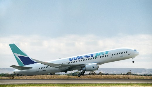 This is what a Boeing 787 would look like in WestJet livery. Illustration by cardatabase.net