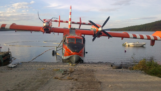 A Newfoundland/Labrador CL-415 was destroyed in an accident on Moosehead Lake last year.