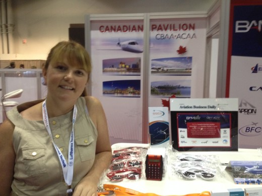 Aime O'Connor was at the Canadian Pavilion at NBAA.