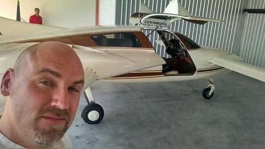 Derek Kesek hopes to fly a mostly-hemp aircraft next year.