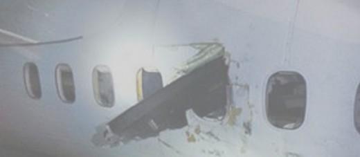 A propeller blade pierced the cabin of an Air Canada Express Q400 in Edmonton.