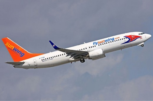 Sunwing is getting six new airplanes.