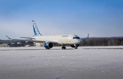 Thursday's planned first flight of the CS300 was postponed due to weather.