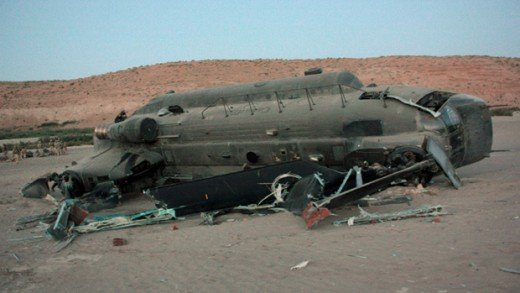 An RCAF after a dynamic rollover accident in Afghanistan in 2011.