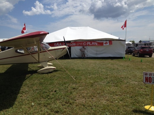Canadian pavilion at EAA AirVenture in Oshkosh.