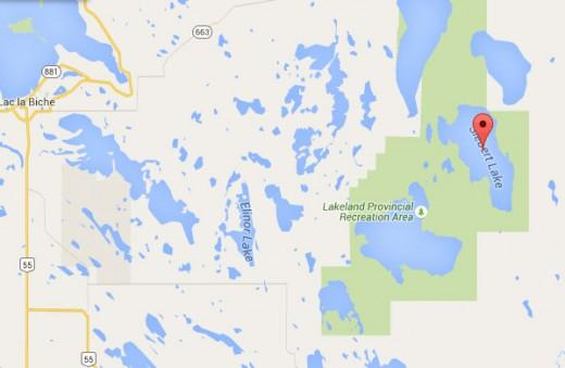 Alberta doctor crashed near Siebert Lake, east of Lac La Biche.