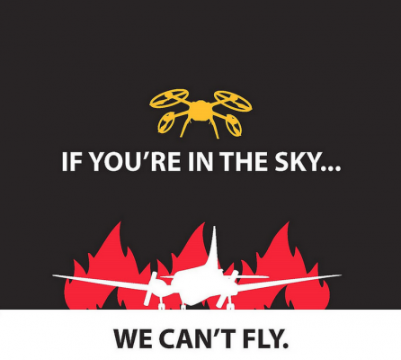 Poster issued by the B.C. government in response to UAS incursions.