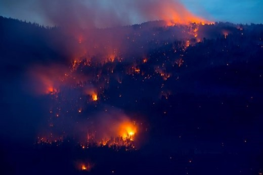 A UAS interrupted aerial firefighting on this B.C. fire near Kelowna.