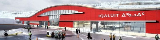 Fire broke out on the roof of the new Iqaluit terminal.