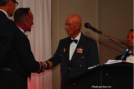 Lt. Col. (Ret'd) Fern Villeneuve became an Honourary Snowbird.