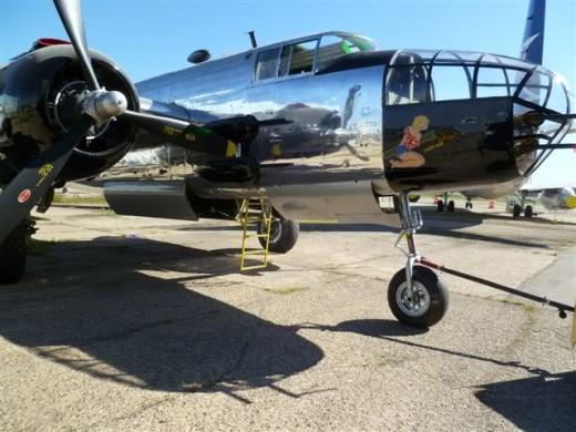 Volunteers restored this B-25 for the Alberta Aviation Museum.