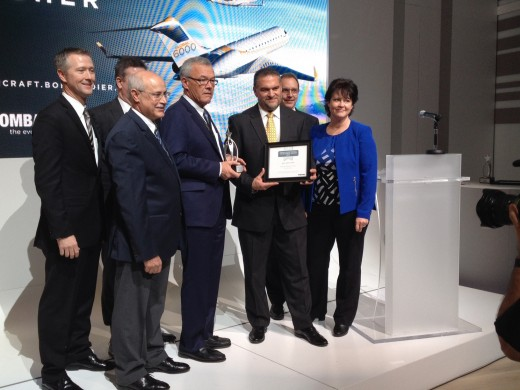 Flying Colours was honoured by Bombardier at NBAA Wednesday.