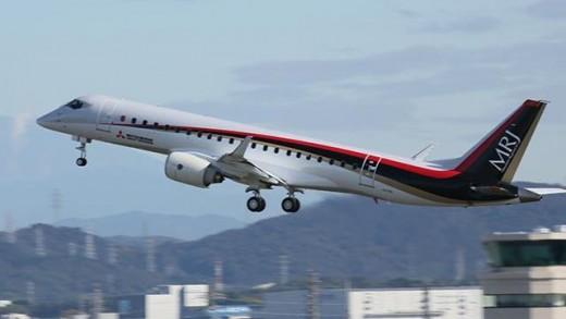 Mitsubishi's MRJ flew Tuesday.