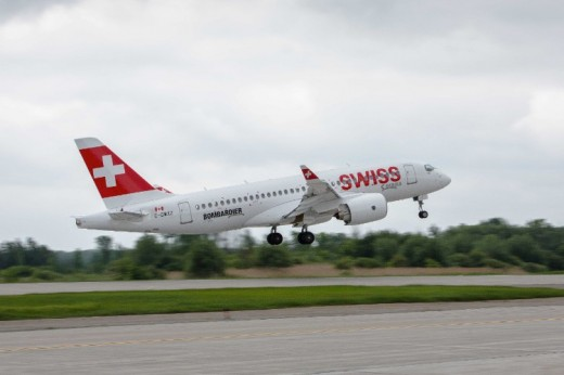 SwissAir will be the launch airline for the CS100.