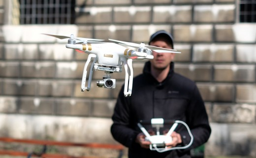 No charges resulted from a drone's collision with a car on Monday.