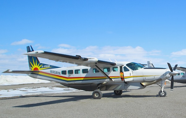 A Wasaya Airways Cessna 208 crashed last week killing the pilot.