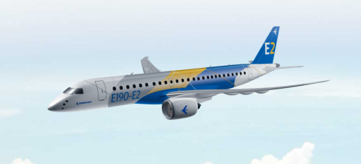 Embraer is rolling out the E190-E2 Thursday.
