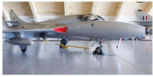 This Hawker Hunter will be at the London Jet Aircraft Museum by early fall.