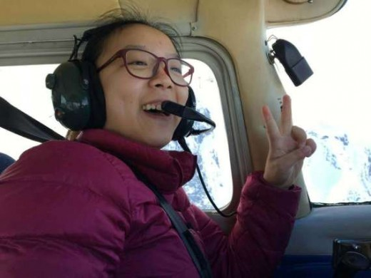 Meihua Huang got to fly a floatplane in B.C. this spring.
