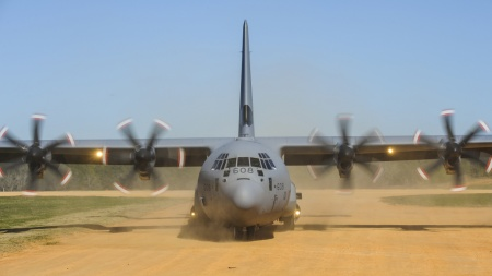C-130's rough runway capability may come in handy.