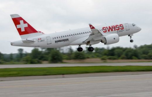 SWISS took its first CSeries Wednesday.