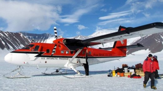 Kenn Borek Air Twin Otters are headed to Antarctica.