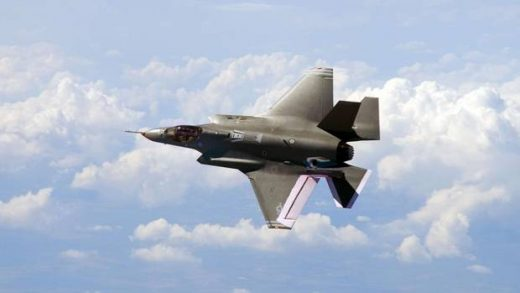 The F-35 is being heavily promoted.