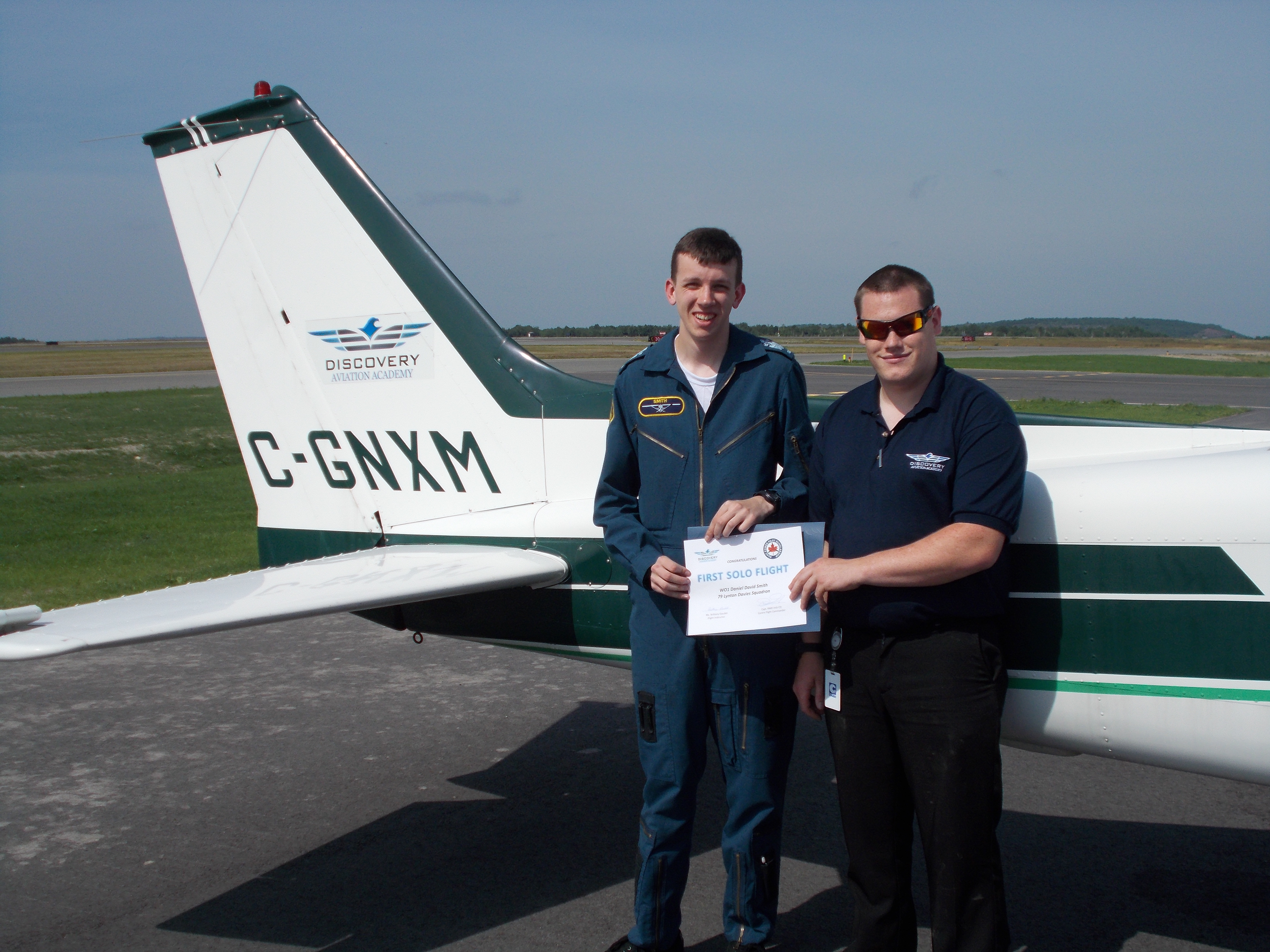 WO1-Smith-solo-flight-21-Jul-16-Discovery-Aviation-Academy-Sudbury