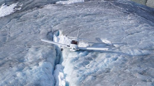 A helicopter plucked this Musketeer from a glacier in B.C.