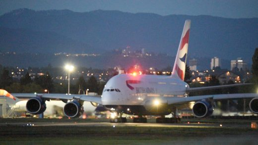 A British Airways A380 diverted to Vancouver Monday.