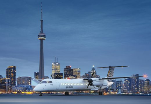 Porter Airlines is adding three Q400s.