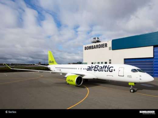 Air Baltic has its first CS300.