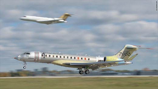Global 7000 took off in Toronto last Friday.